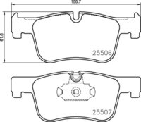 8DB 355 019-771 BMW FR Brake Pads