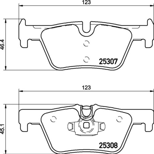 8DB 355 019-971 BMW RR Brake Pads