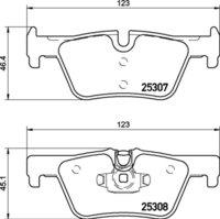 8DB 355 019-971 BMW RR Brake Pads