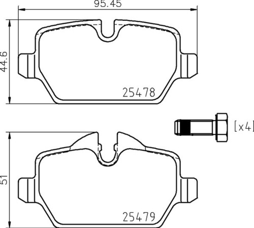8DB 355 020-111 Mini Cooper RR Brake Pads