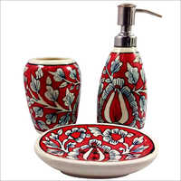 Ceramic Bathroom Accessories Set