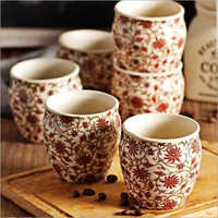 Ceramic Printed Tea Kullad
