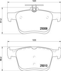 8DB 355 020-271 - Audi RR Brake Pad