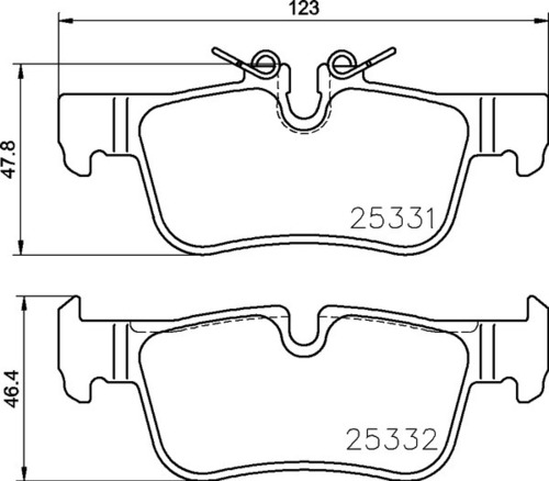 8DB 355 021-681 BMW RR Brake Pads