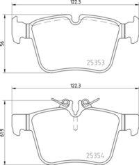 8DB 355 021-831 Merc RR Brake Pads