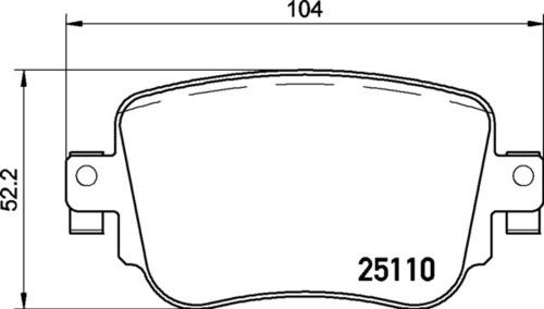 8DB 355 021-911 - Audi RR Brake Pad