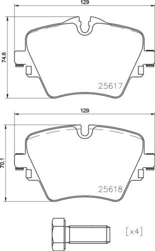 8DB 355 023-131 BMW FR Brake Pads