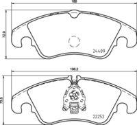 8DB 355 023-221 - Audi FR Brake Pad