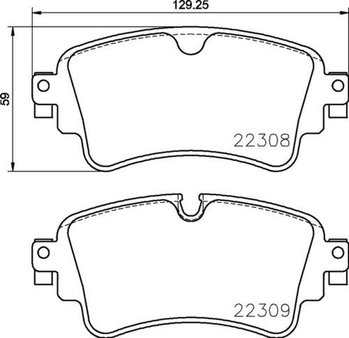 8DB 355 024-791 - Audi RR Brake Pad