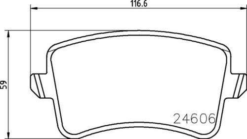 8DB 355 025-381 - Audi RR Brake Pad