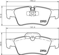 8DB 355 011-421 Merc RR Brake Pads