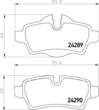 8DB 355 013-661 Mini Cooper RR Brake Pads