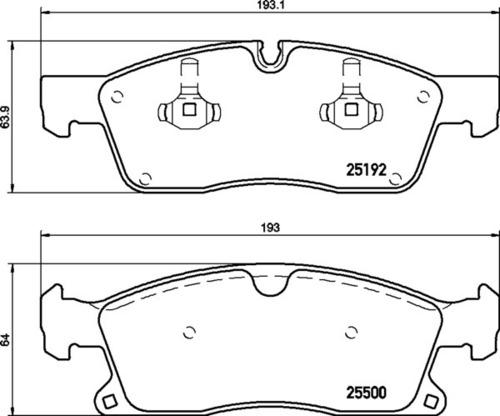 8DB 355 019-821 Merc FR Brake Pads
