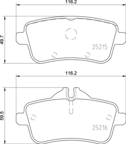 8DB 355 019-821 Merc RR Brake Pads