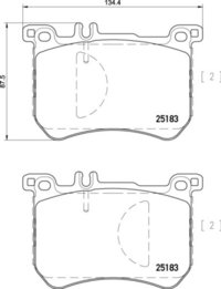 8DB 355 020-491 Merc FR Brake Pads