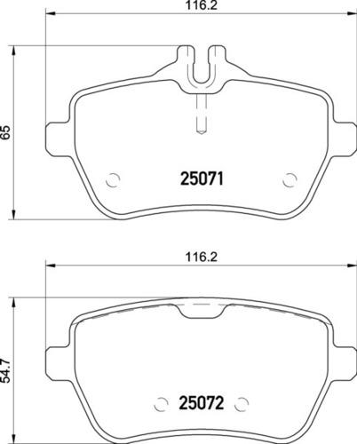 8DB 355 021-511 Merc RR Brake Pads
