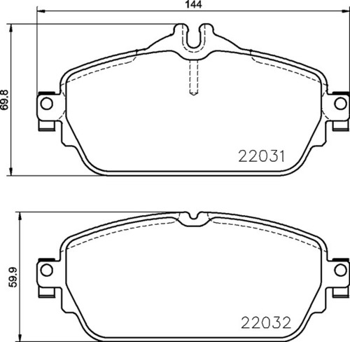 8DB 355 021-551 Merc FR Brake Pads