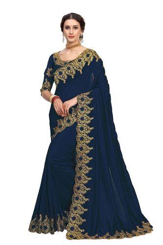 New Designer Satin Silk Saree