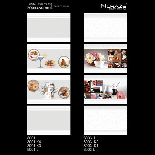 300x 450mm Designer Kitchen Wall Tiles