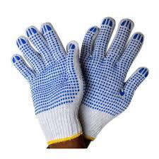 Double Palm Dotted Hand Gloves