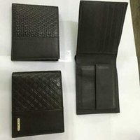 Black leather synthetic leather wallet