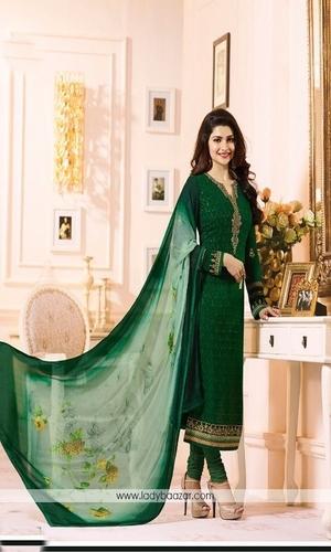 Chiffon Designer Embroidered Salwar Suits