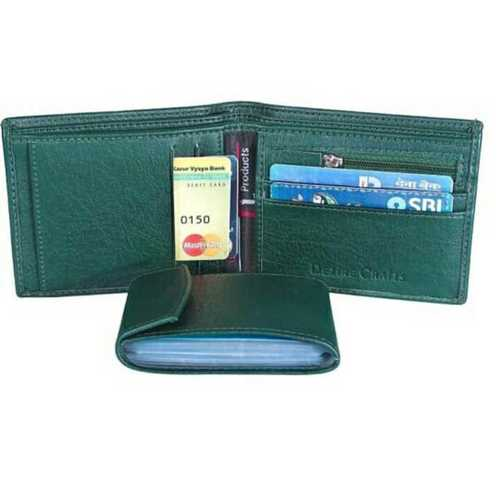 Money clip leather wallet