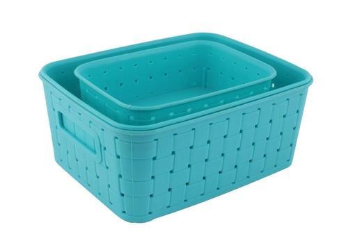 062 Smart Baskets for Storage(Set of 3) Sky Blue