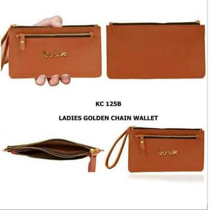 Leather golden chain wallet