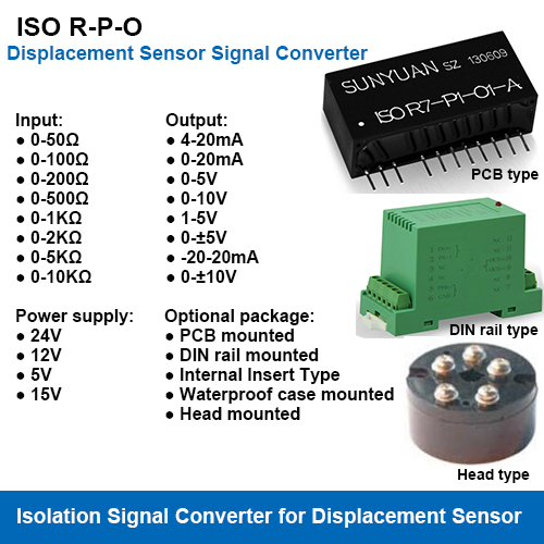 Potentiometer Electrical Ruler Displacement Sensors Signal Isolation Transmitters