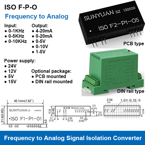 Frequency Signal to Analog Signal Isolation Converters
