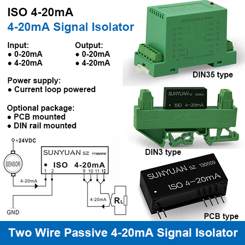 AC to DC Standard Signal Isolation Converters