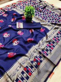 Lichi Cotton Silk With Heavy Jacquard Weaving