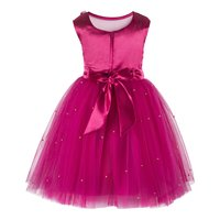 Pink Knee Length Party  Frock