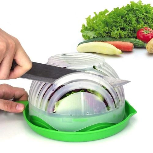 743 Salad Cutter Bowl Upgraded Easy Salad Maker, Fast Fruit Vegetable Salad Chopper Bowl Fresh Salad Slicer