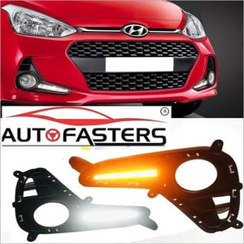 AUTOFASTERS Car DRL Fog Light For New Hyundai I10 Grand