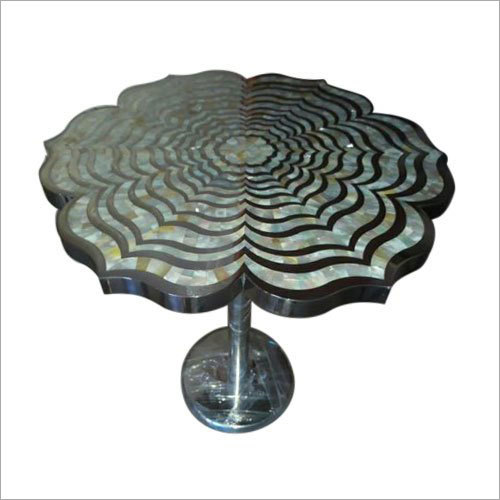 Lotus White Mother Of Pearl End Table