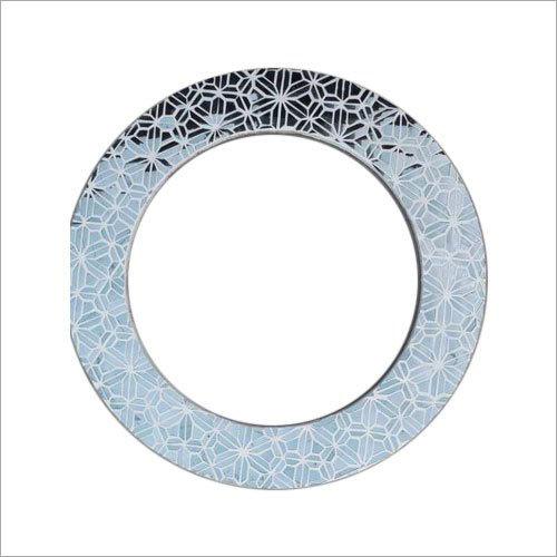 Round Glass Inlay Mirror Frame