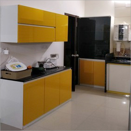 Incline Handle Less Ply Laminate Modular Kitchen