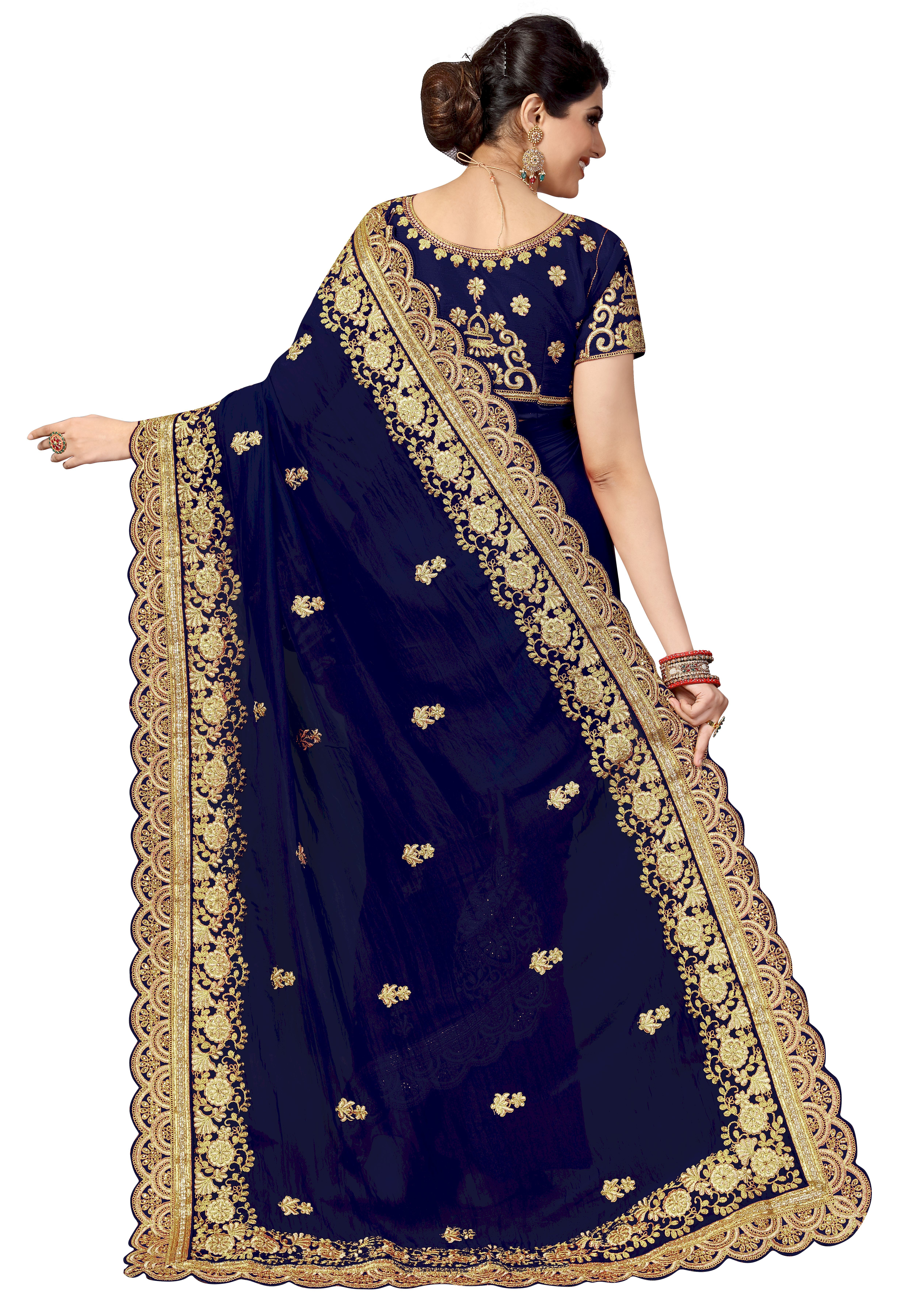 Fancy embroidered Silk Saree Collection