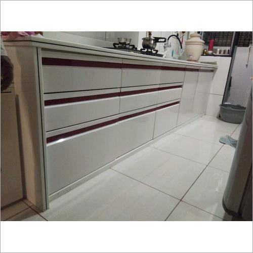 G Handle Modular Kitchen With Shutter