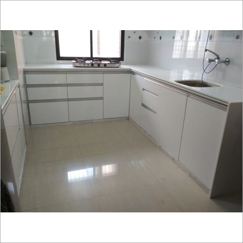 Corian J Modular Kitchen With Shutter