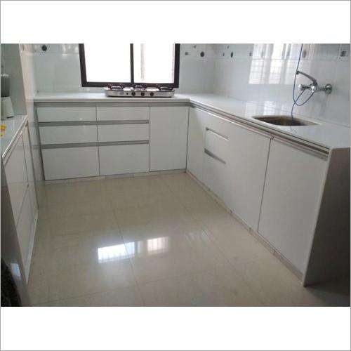 Corian J Modular Kitchen With Shutter