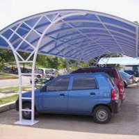 Polycarbonate parking shade