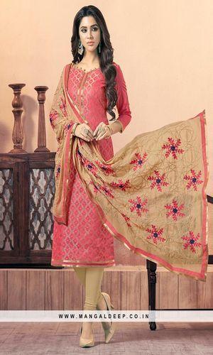 Casual Wear Banarasi Suit Dress Materials
