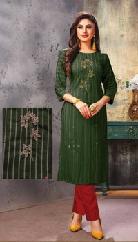 Viscous With  Liner  embroidery with handwork