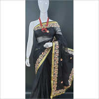 Side Embroidery Cotton Saree