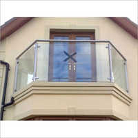 SS Glass Balcony Railing