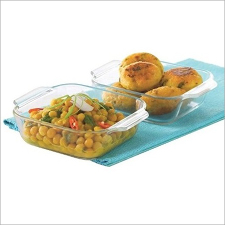 340 Ml Borosil Mini Square Dish Set