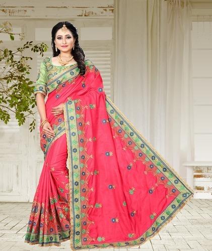 Namastey Fashion Latest Designer Embroidered Party Wear Designer Saree